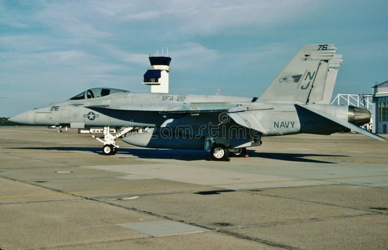 USN McDonnell Douglas F/A-18F BuNo 1675661 fotos de stock royalty free