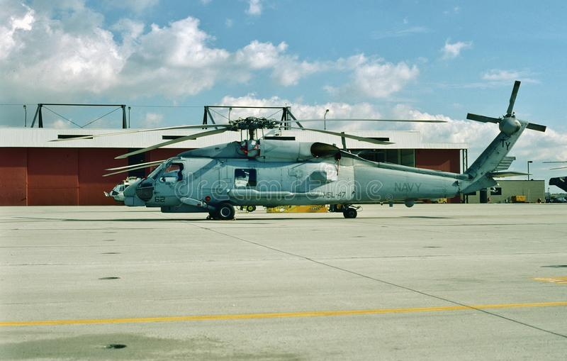 USN Sikorsky SH-60B Seahawk Helicopter.  stock image