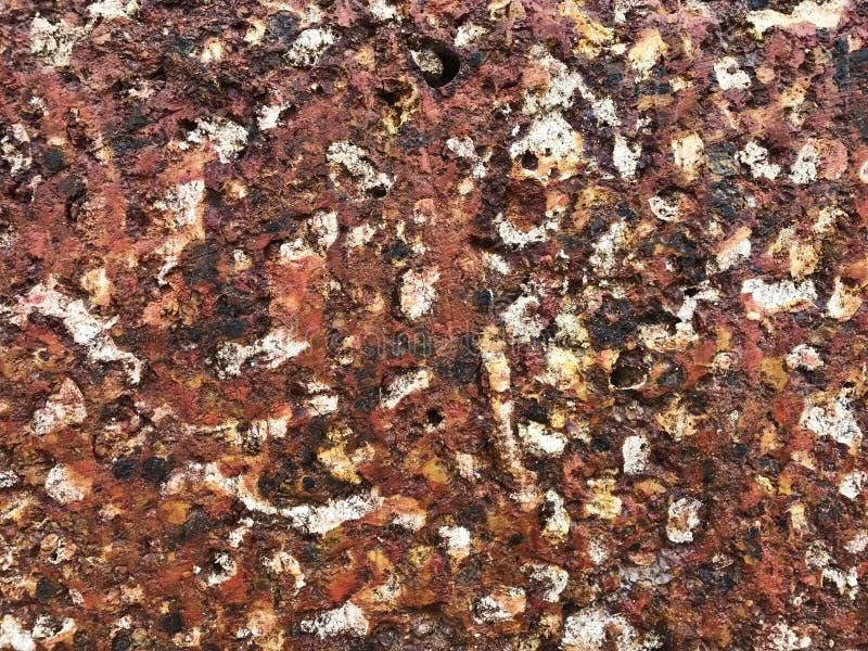 Uso alaranjado da textura de Tone Stone para o papel de parede fotografia de stock