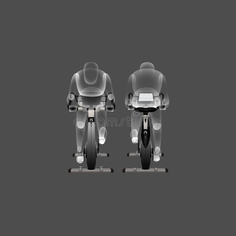 Uso apropiado del ejemplo inmóvil del vector de la bici libre illustration