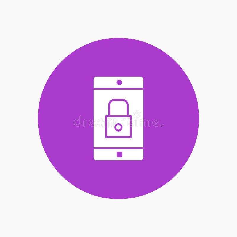 Uso, cerradura, uso de la cerradura, móvil, aplicación móvil stock de ilustración