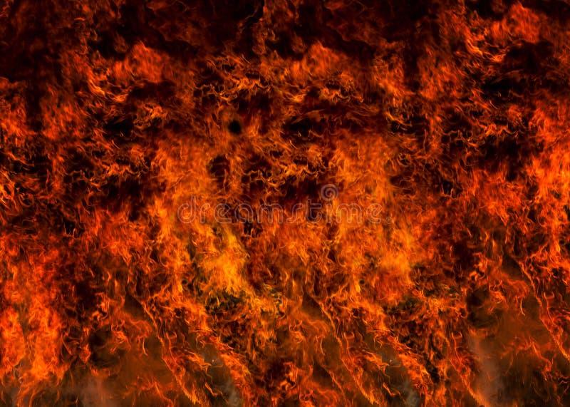 Marco completo llameante del fuego fotos de archivo