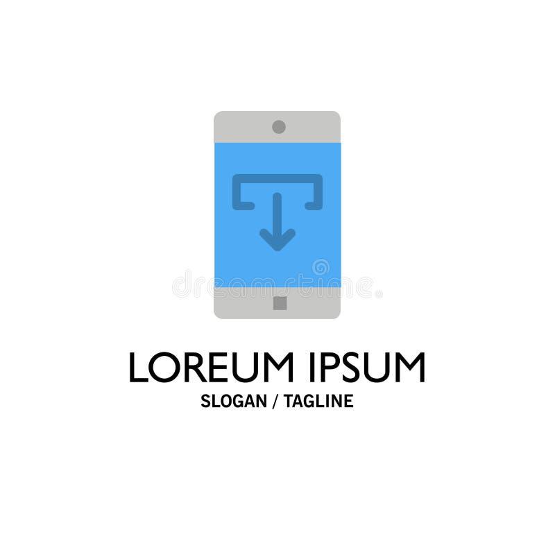 Uso, datos, transferencia directa, móvil, negocio Logo Template de la aplicación móvil color plano stock de ilustración