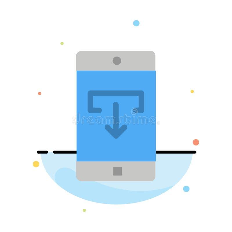 Uso, datos, transferencia directa, móvil, plantilla plana del icono del color del extracto de la aplicación móvil libre illustration