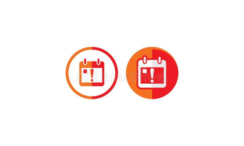 Uso de cuidado del vector del icono del logotipo de la fecha stock de ilustración