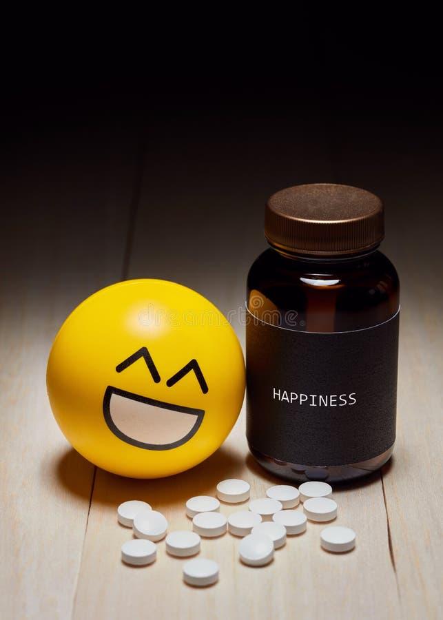 Uso de drogas y felicidad sedantes antis imagenes de archivo