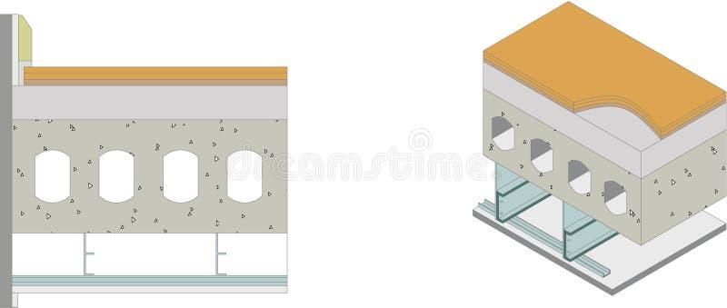 Uso de los materiales de construcción stock de ilustración