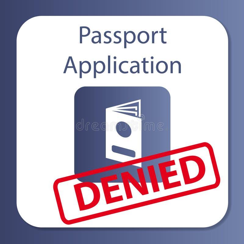 Uso de pasaporte negado fotos de archivo libres de regalías