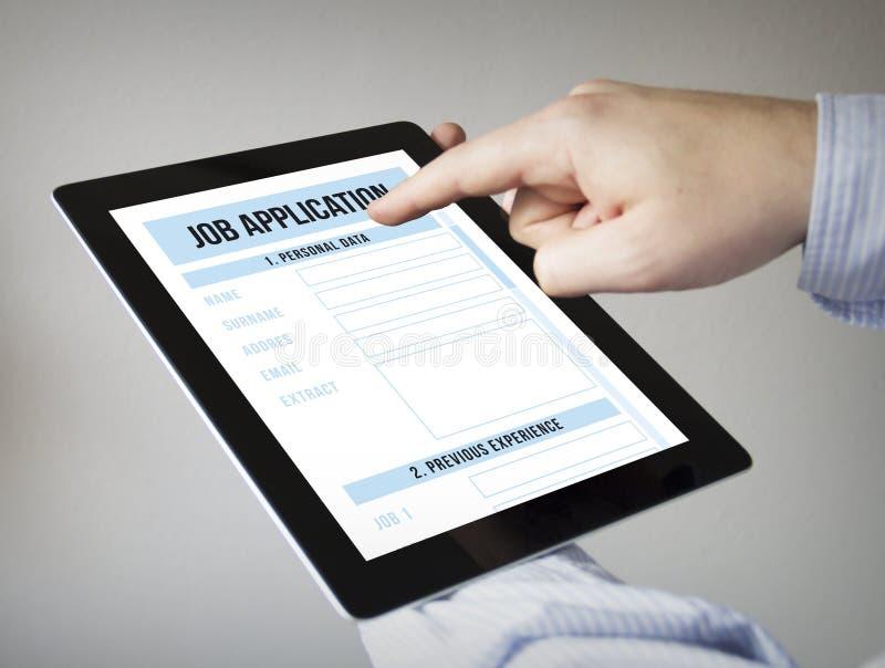 Uso de trabajo en una tableta libre illustration