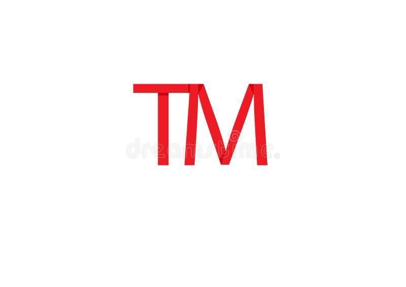 Uso del dise?o de la abreviatura del vector del logotipo de TM para el icono ilustración del vector