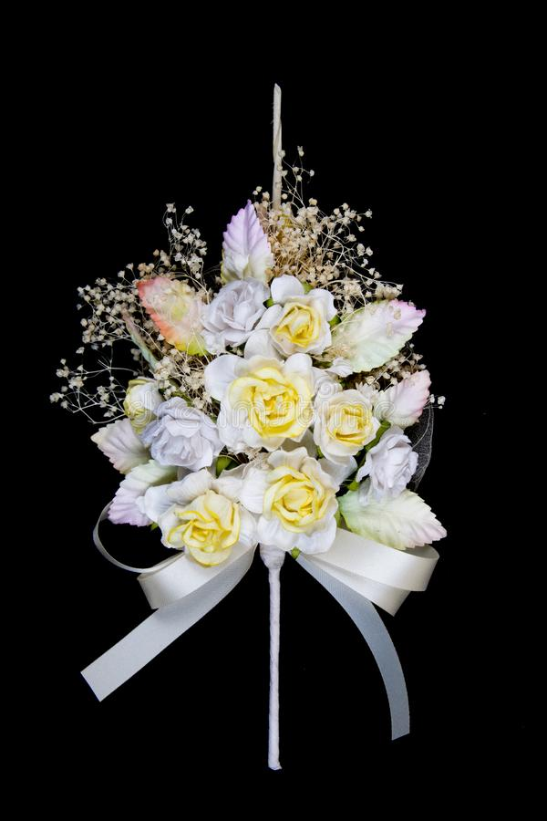 Uso del fiore di carta nella cerimonia funerea immagine stock libera da diritti