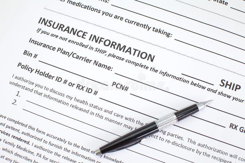 Uso del seguro médico imagen de archivo