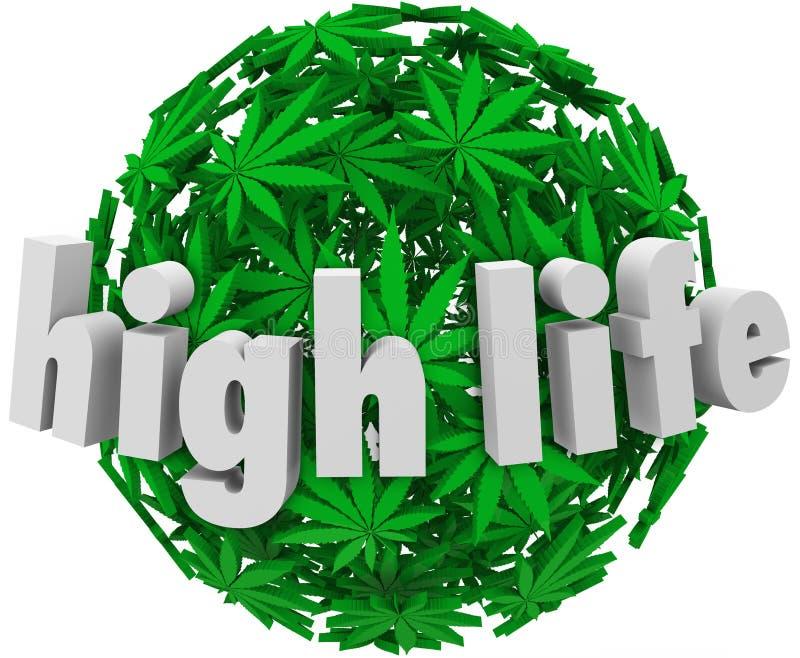 Uso della droga lapidato palla della sfera della marijuana di vita di divertimenti royalty illustrazione gratis