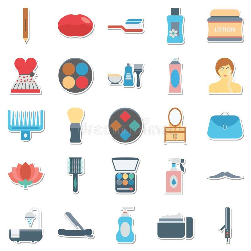 Uso delle icone di vettore della stazione termale e di bellezza per i progetti del salone e della stazione termale di bellezza illustrazione vettoriale