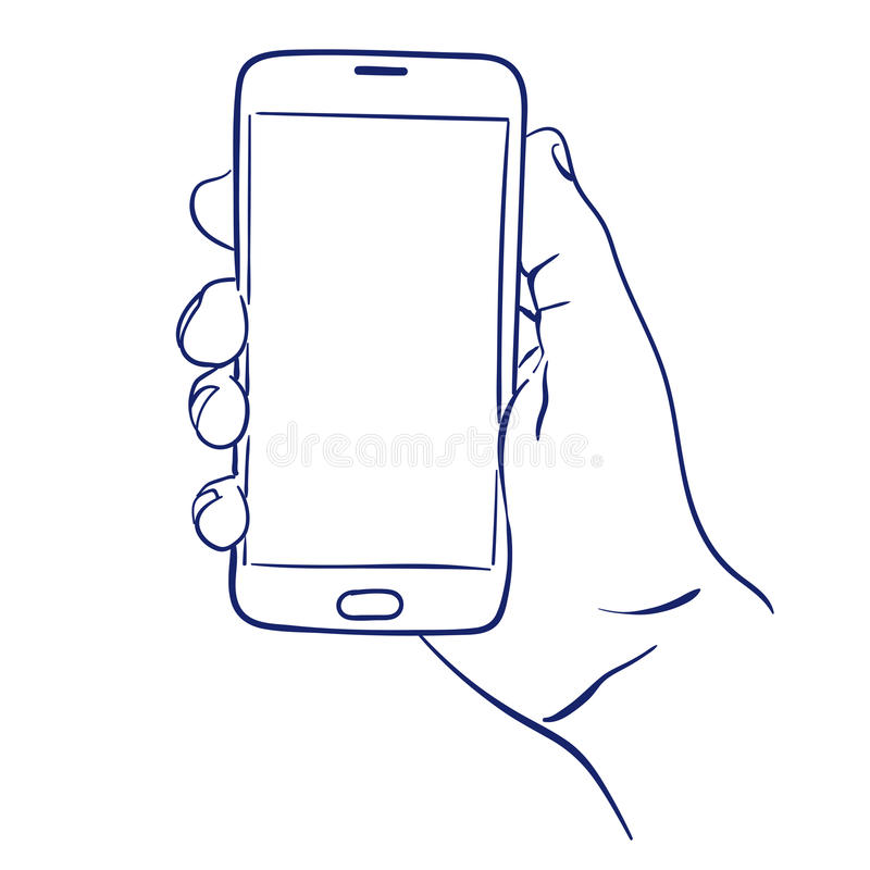 Uso disponibile di Smartphone illustrazione di stock