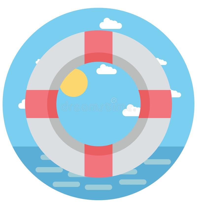 Uso editable del icono de Ring Illustration Color Vector Isolated de la vida y especial fácil para el ocio, el viaje y el viaje stock de ilustración