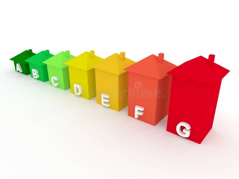 Uso eficaz da energia dos edifícios ilustração do vetor