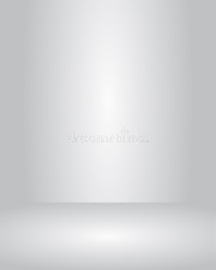 Uso grigio del pozzo del fondo di pendenza della stanza dello studio di vettore per il prodotto attuale illustrazione di stock