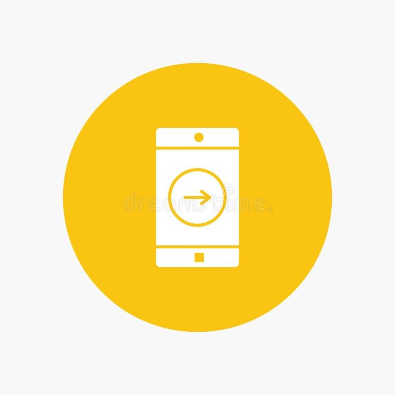 Uso, la derecha, móvil, aplicación móvil libre illustration