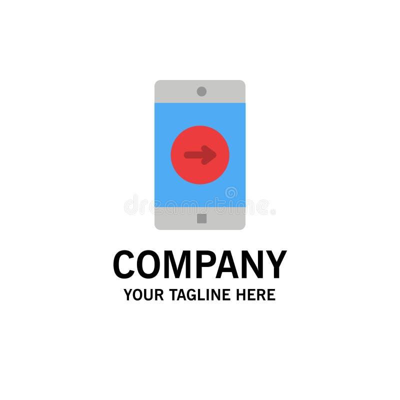Uso, la derecha, móvil, negocio Logo Template de la aplicación móvil color plano libre illustration