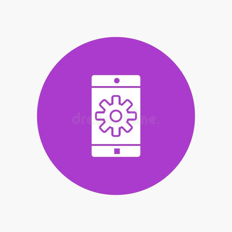 Uso, móvil, aplicación móvil, ajuste libre illustration