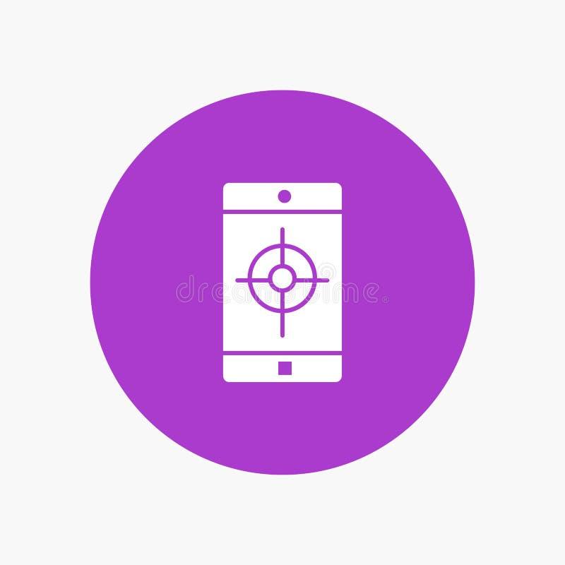 Uso, móvil, aplicación móvil, blanco libre illustration