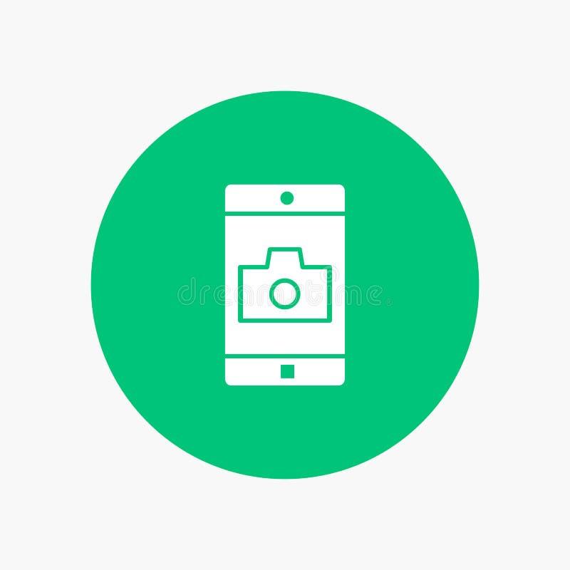 Uso, móvil, aplicación móvil, cámara ilustración del vector