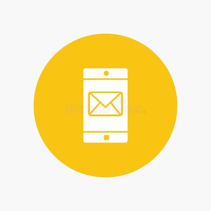 Uso, móvil, aplicación móvil, correo ilustración del vector