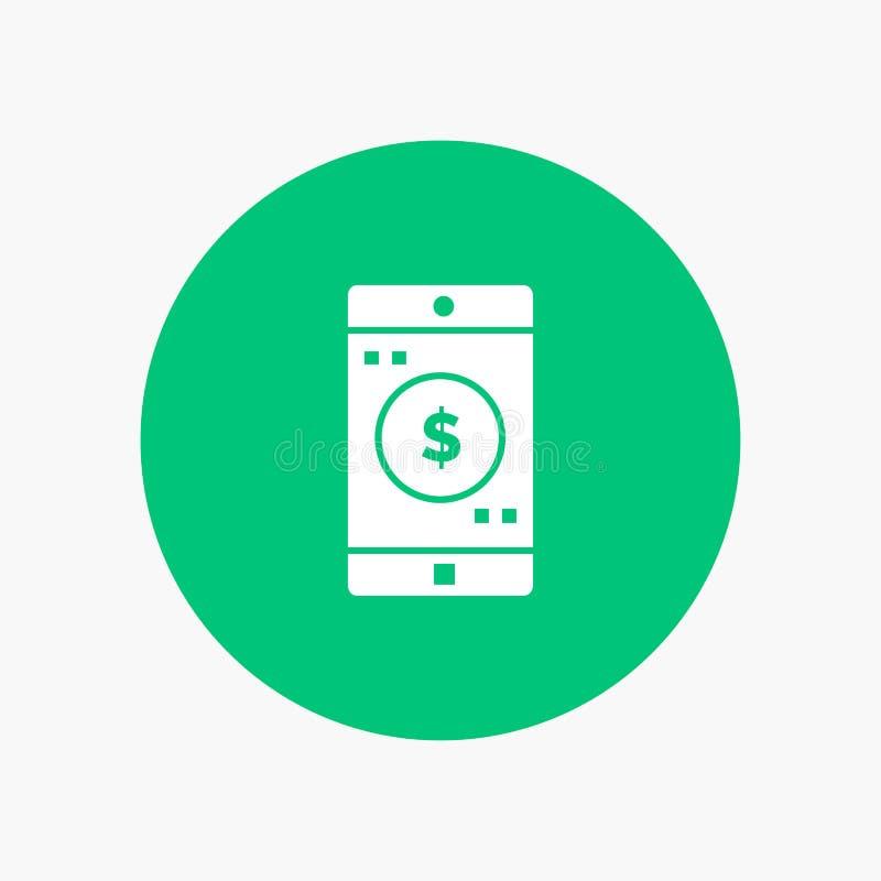 Uso, móvil, aplicación móvil, dólar libre illustration