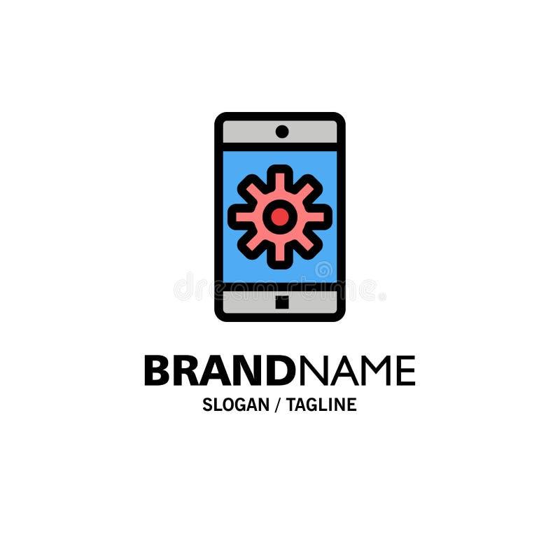 Uso, móvil, aplicación móvil, fijando el negocio Logo Template color plano libre illustration