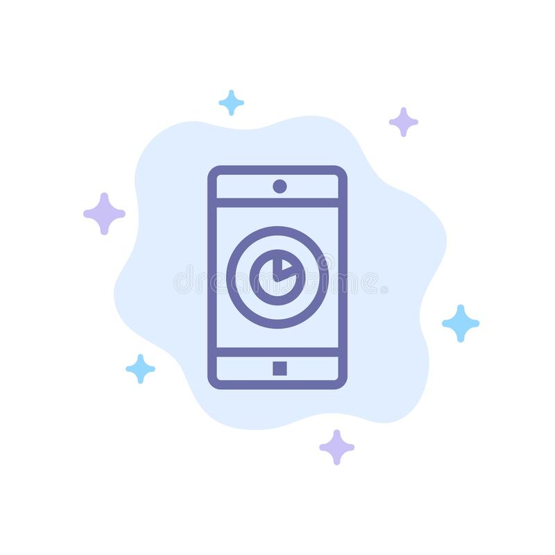Uso, móvil, aplicación móvil, icono azul del tiempo en fondo abstracto de la nube libre illustration