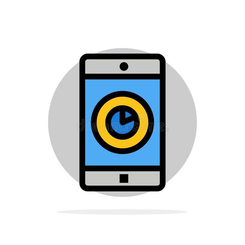 Uso, móvil, aplicación móvil, icono plano del color de fondo abstracto del círculo del tiempo libre illustration