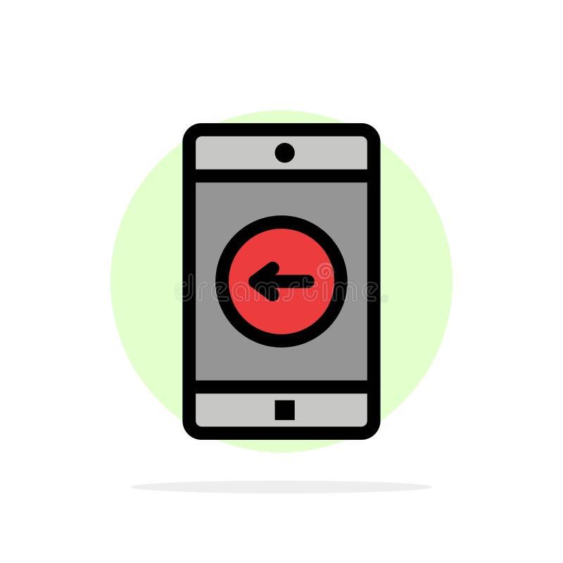 Uso, móvil, aplicación móvil, icono plano del color de fondo abstracto izquierdo del círculo stock de ilustración