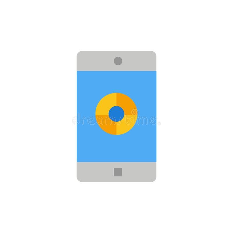 Uso, móvil, aplicación móvil, icono plano del color de la blanco Plantilla de la bandera del icono del vector ilustración del vector