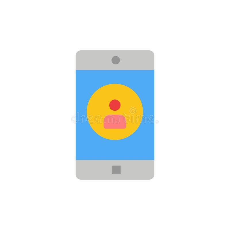 Uso, móvil, aplicación móvil, icono plano del color del perfil Plantilla de la bandera del icono del vector stock de ilustración