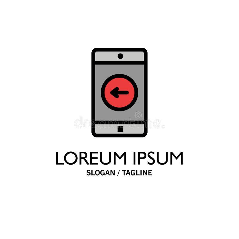 Uso, móvil, aplicación móvil, negocio izquierdo Logo Template color plano stock de ilustración