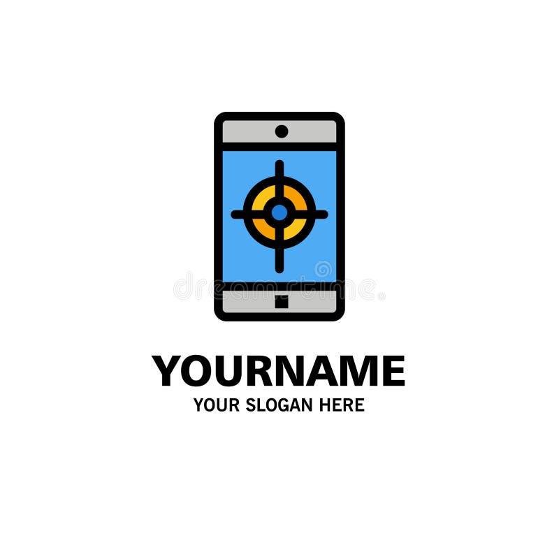 Uso, móvil, aplicación móvil, negocio Logo Template de la blanco color plano ilustración del vector