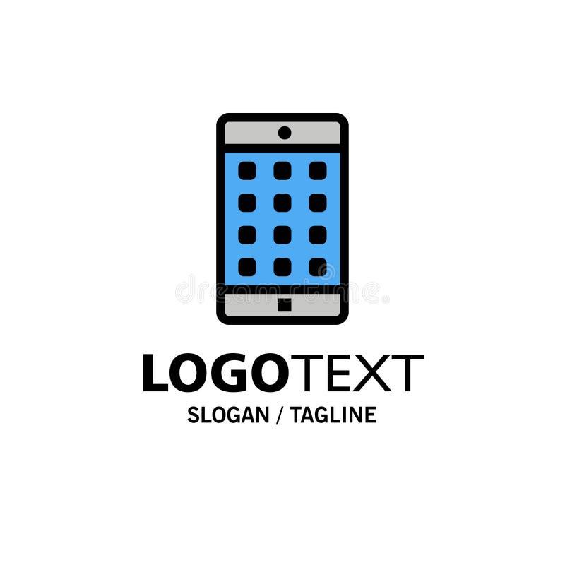 Uso, móvil, aplicación móvil, negocio Logo Template de la contraseña color plano ilustración del vector