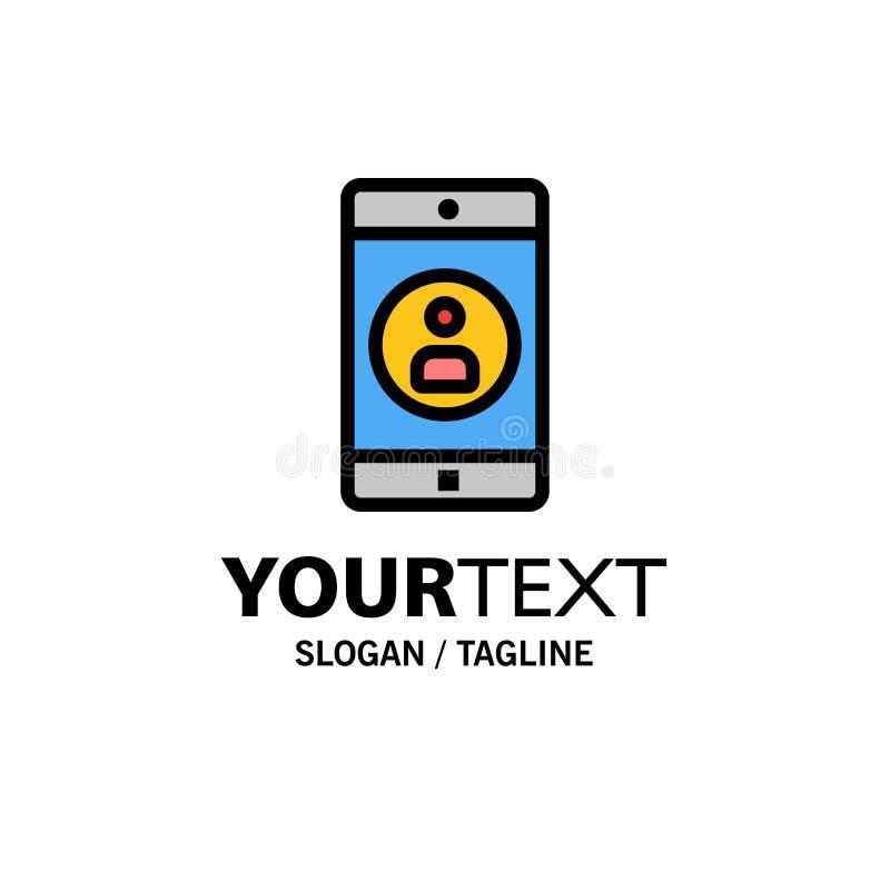 Uso, móvil, aplicación móvil, negocio Logo Template del perfil color plano libre illustration