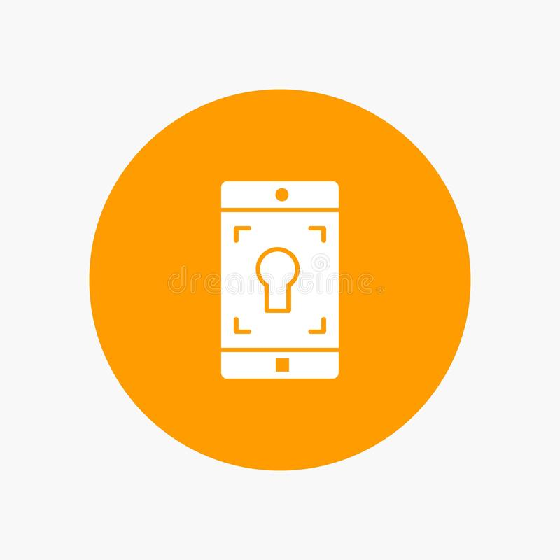 Uso, móvil, aplicación móvil, pantalla stock de ilustración