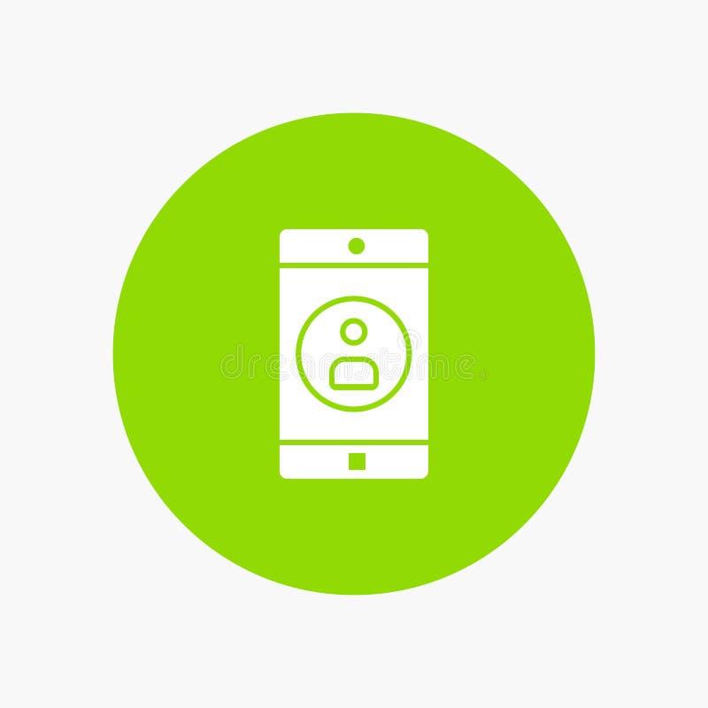 Uso, móvil, aplicación móvil, perfil stock de ilustración
