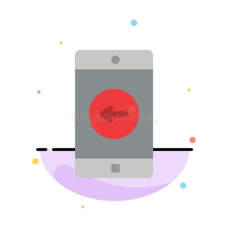 Uso, móvil, aplicación móvil, plantilla plana abstracta izquierda del icono del color libre illustration