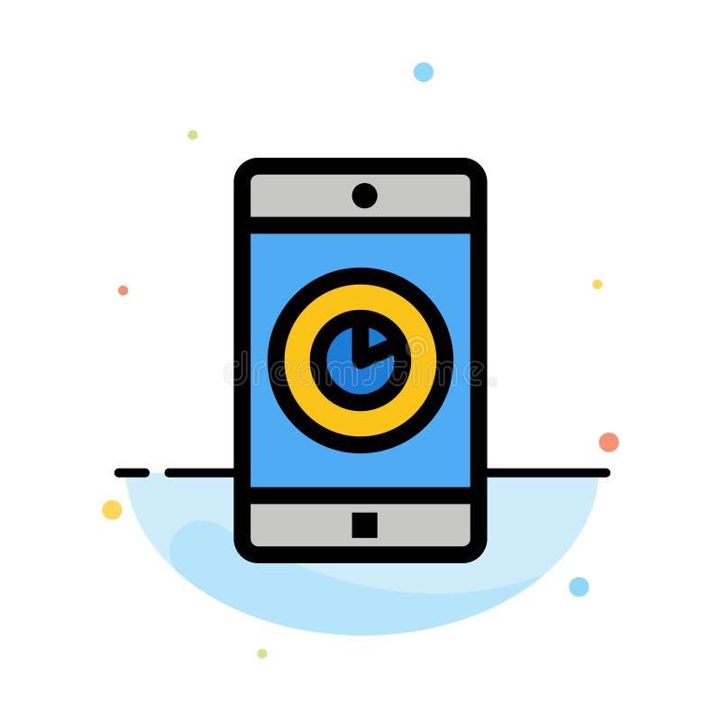 Uso, móvil, aplicación móvil, plantilla plana del icono del color del extracto del tiempo libre illustration