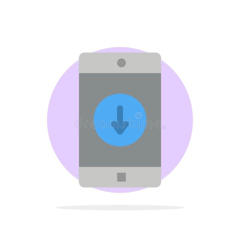 Uso, móvil, aplicación móvil, plumón, icono plano del color de fondo del círculo del extracto de la flecha stock de ilustración