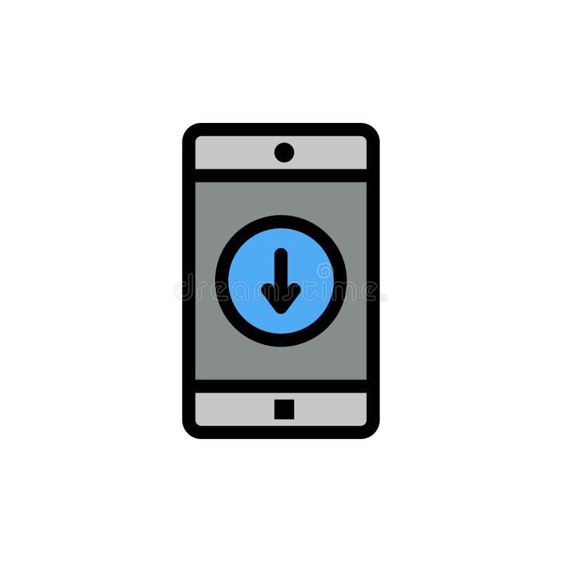Uso, móvil, aplicación móvil, plumón, icono plano del color de la flecha Plantilla de la bandera del icono del vector libre illustration