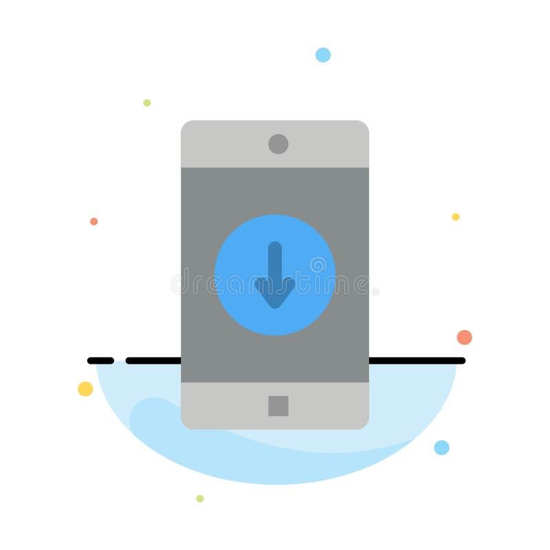 Uso, móvil, aplicación móvil, plumón, plantilla plana del icono del color del extracto de la flecha stock de ilustración