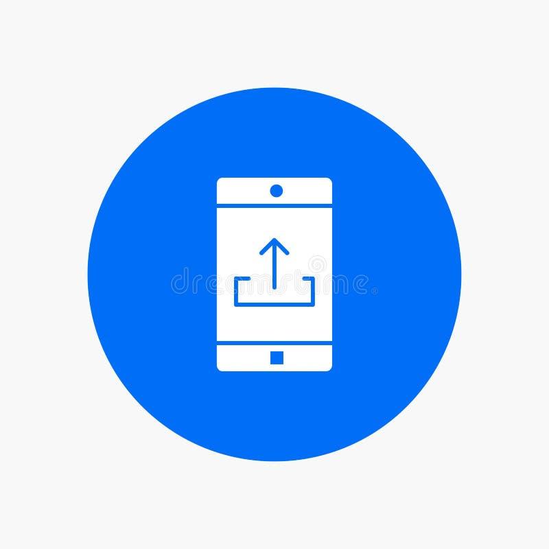 Uso, móvil, aplicación móvil, Smartphone, carga por teletratamiento stock de ilustración