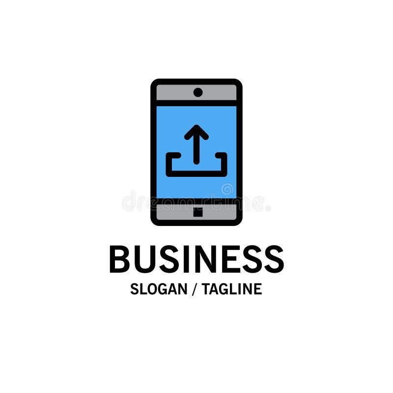 Uso, móvil, aplicación móvil, Smartphone, negocio Logo Template de la carga por teletratamiento color plano stock de ilustración