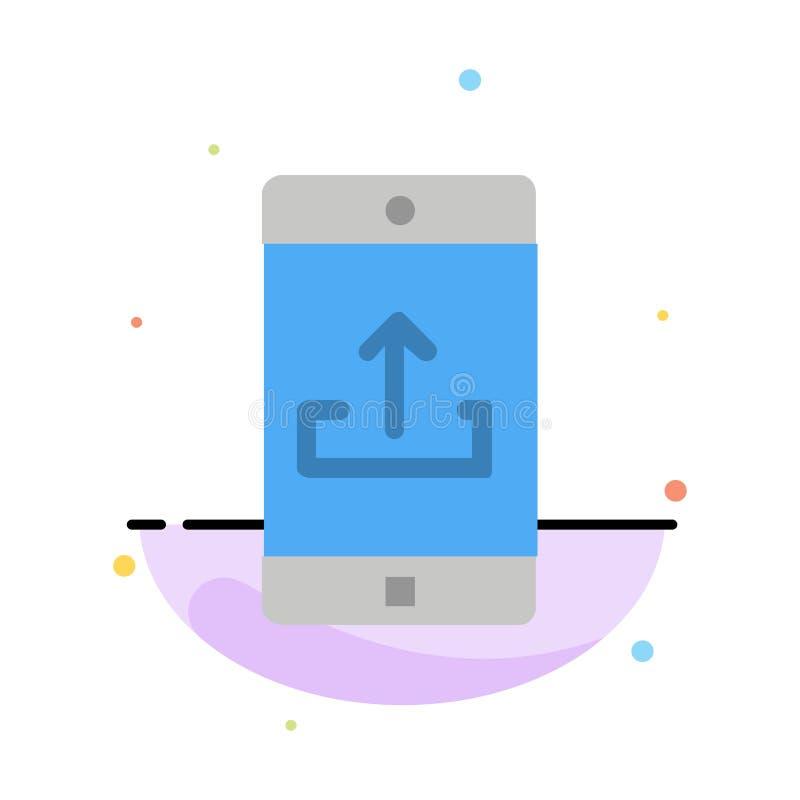 Uso, móvil, aplicación móvil, Smartphone, plantilla plana del icono del color del extracto de la carga por teletratamiento libre illustration