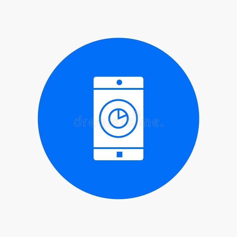 Uso, móvil, aplicación móvil, tiempo stock de ilustración